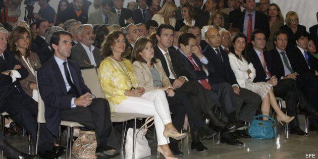 Santamaría y Soria, espectadores de la conferencia de Aznar en el Club siglo