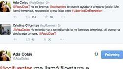 Ada Colau y Cristina Cifuentes se enzarzan en Twitter
