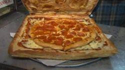 Solo para amantes de la pizza: esta caja de pizza está hecha... de