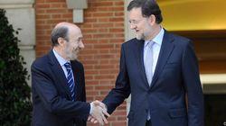 Rajoy y Rubalcaba pactan por teléfono su acuerdo sobre