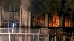 La rabia estalla en violencia: queman la embajada de Arabia en