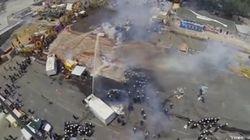 Las protestas de la plaza Taksim, vistas desde el aire
