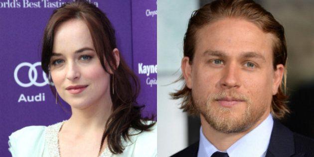 Dakota Johnson, Anastasia; Charlie Hunnam, Christian: los protagonistas de la película de '50 Sombras...