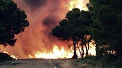 Las brigadas contra incendios, en huelga en plena campaña de