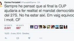 JxSí reacciona con decepción al 'no' de la CUP a