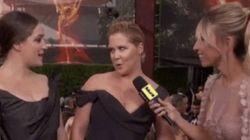 Amy Schumer no tuvo reparos en hablar sobre su tampón en la alfombra