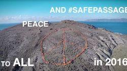 El mensaje de Greenpeace al mundo hecho con 3.000 chalecos