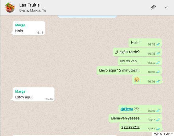 WhatsApp permite mencionar a personas en un grupo para que vean los
