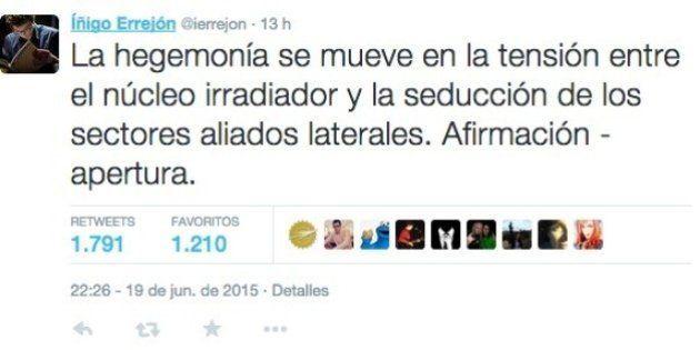 Errejón revoluciona Twitter con un mensaje
