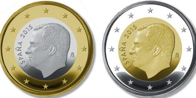 Las monedas de 1 y 2 euros con la imagen de Felipe VI empiezan a