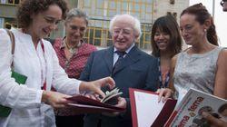 El presidente de Irlanda, de vacaciones en un curso de español en