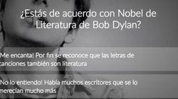 ¿Estás de acuerdo con el Nobel de Literatura para Bob Dylan?