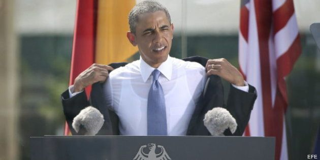 Obama pide ante Merkel una