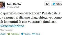 Toni Cantó se burla de Rajoy en Twitter