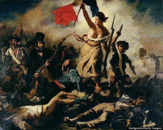 'La Libertad guiando al pueblo'... de