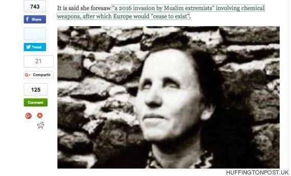 La mujer que predijo el 11-S augura que el Estado Islámico invadirá Europa este