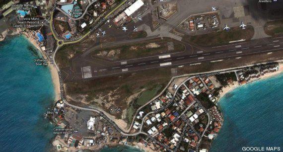 Isla de San Martín: donde los aviones vuelan muy cerca de los bañistas de la playa