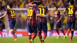 Messi, Neymar y Suárez. Una pareja y un