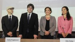 Puigdemont y Colau toman las riendas de la acogida de refugiados ante la 'inoperancia' del