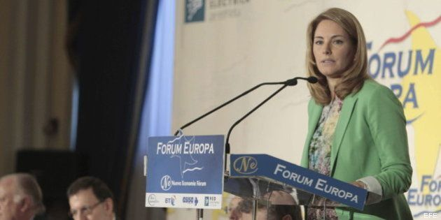 Arantza Quiroga, presidenta del PP vasco, junto a Rajoy:
