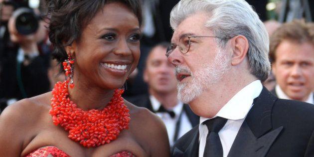 George Lucas y Mollody Hobson se