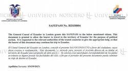Ecuador niega haber extendido un salvoconducto a Edward
