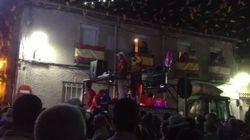 'Cara al sol' y bandera franquista en las fiestas de Moraleja de Enmedio