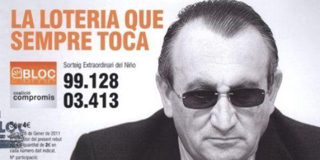 Compromís, condenado a pagar 12.000 euros por vender lotería con la cara de Carlos