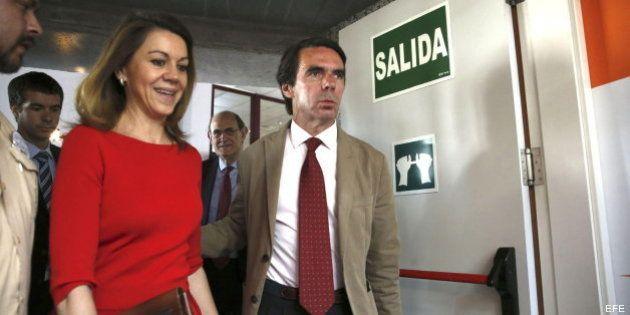 Aznar se calla en un día de máxima tensión para el