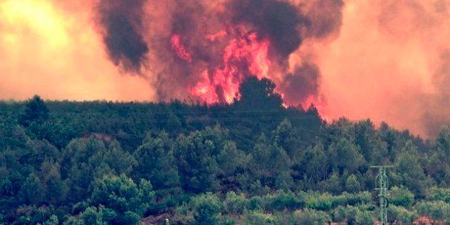 Los incendios de Cortes y Andilla, en Valencia, arrasan más de 45.000 hectáreas
