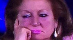 La mujer de rosa reaparece en Champions... pero con otro 'look' y otro