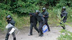 Once mineros detenidos en las barricadas