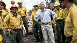La visita de Obama pone el foco en los incendios de Colorado