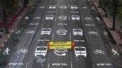 Greenpeace 'rediseña' una céntrica calle de Madrid en el Día Sin