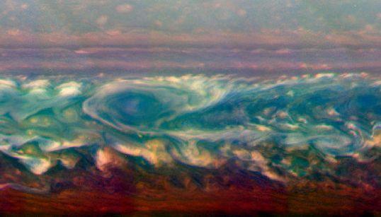 Así se forma una tormenta en Saturno