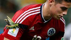 El bicho gigante que se posó sobre James y otras imágenes del Mundial