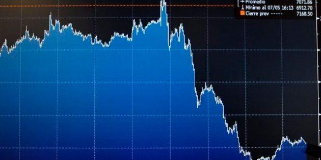 El BCE decepciona, la prima de riesgo se dispara y el IBEX cae casi un