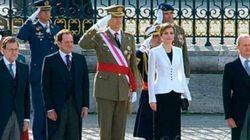 Felipe VI preside la primera Pascua Militar con un gobierno en