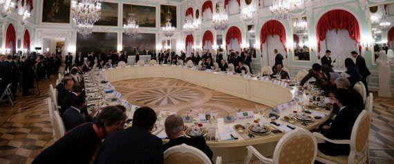 La fiesta nocturna de los líderes del G-20: cena, fuegos artificiales y espectáculos de agua