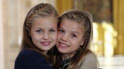 Leonor y Sofía, protagonistas de la felicitación de Navidad de la Casa