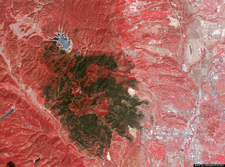 La 'cicatriz' que han dejado los incendios en Colorado, EEUU, vista desde el espacio