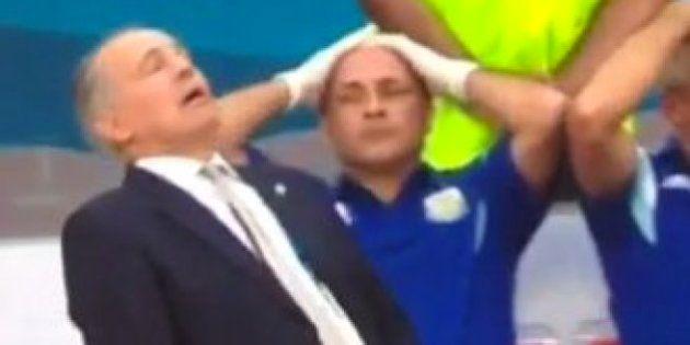 La 'casi caída' del seleccionador argentino y otras imágenes del Mundial