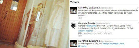 Santi Cañizares revoluciona Twitter al colgar la foto de su mujer