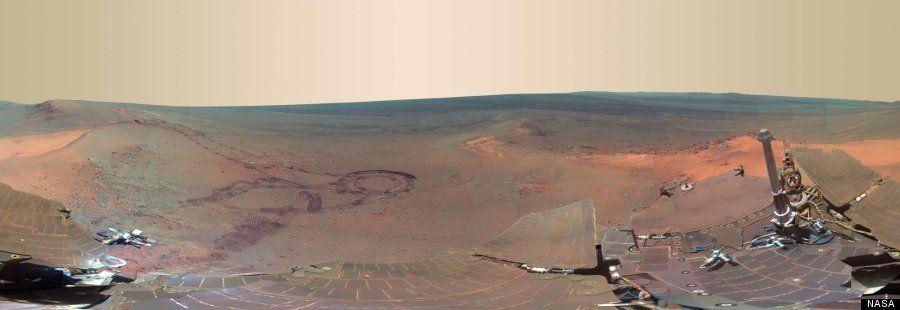 Marte en panorámico: la NASA muestra nuevas imágenes captadas por el Opportunity