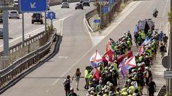 La Marcha Negra, a las puertas de Madrid (VÍDEO,