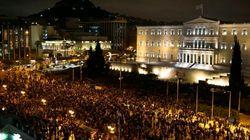 Miles de griegos se manifiestan en apoyo al Gobierno y contra el