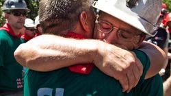 Alcobendas recibe a los mineros entre