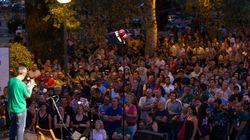 Los mineros son acogidos en Aravaca con un concierto de Aute y Víctor