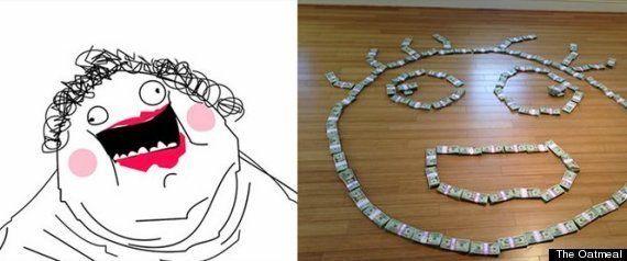 Un favor por internet: The Oatmeal consigue 211.000 dólares por una trifulca con otra web