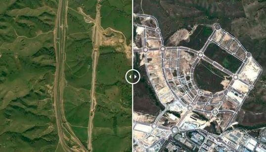 Nación rotonda: 10 ejemplos de desastres urbanísticos de la crisis (FOTOS ANTES Y
